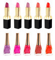 Lipstick and nailpolish in different colors - PhotoDune Item for Sale