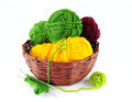 Colorful yarn and needles for knitting - PhotoDune Item for Sale
