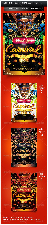 GraphicRiver Mardi Gras Carnival Party Flyer 2 3852932