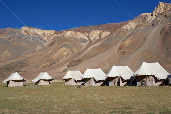 PhotoDune Tented Camp in the Mountains 3854129