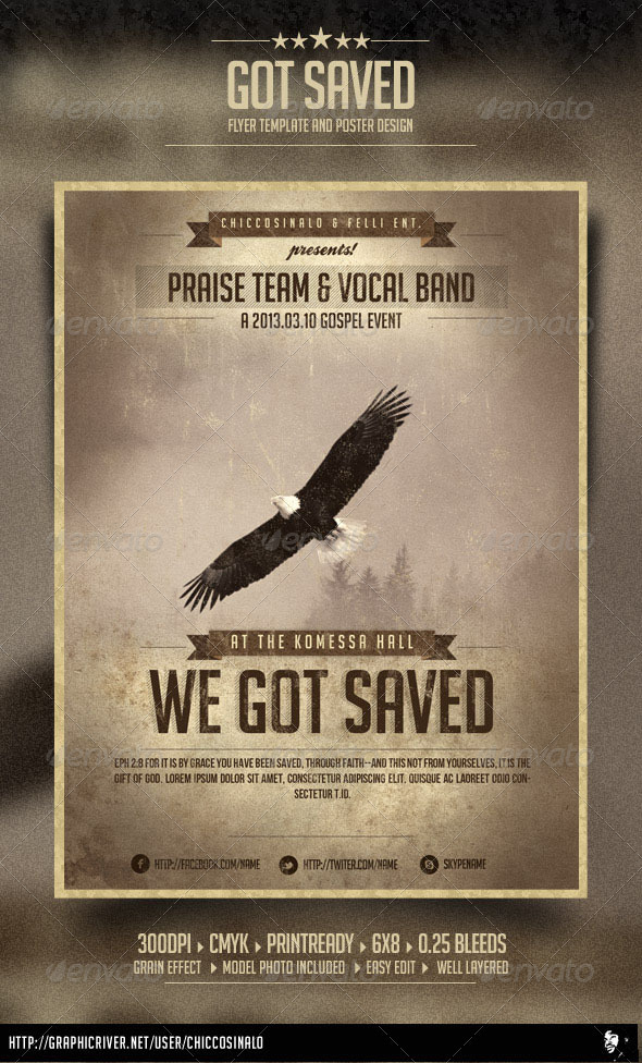 Got Saved Flyer Template - Concerts Events