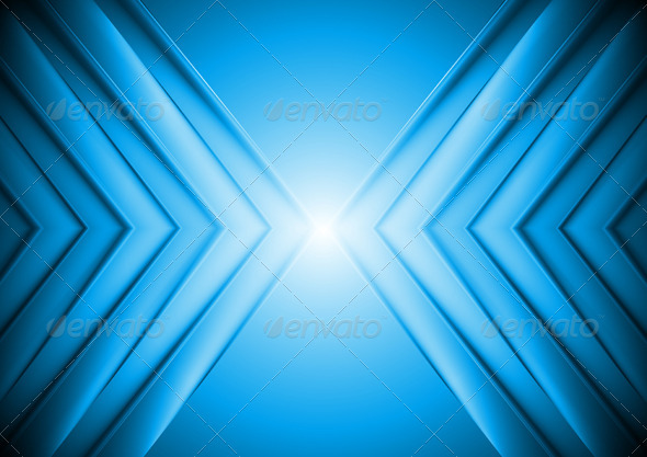 GraphicRiver Bright Blue Tech Background 3853631