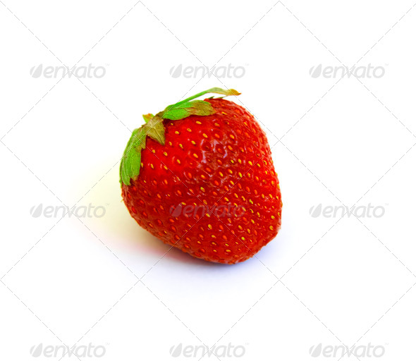 PhotoDune fresh red strawberry isolated on a white background 3853802