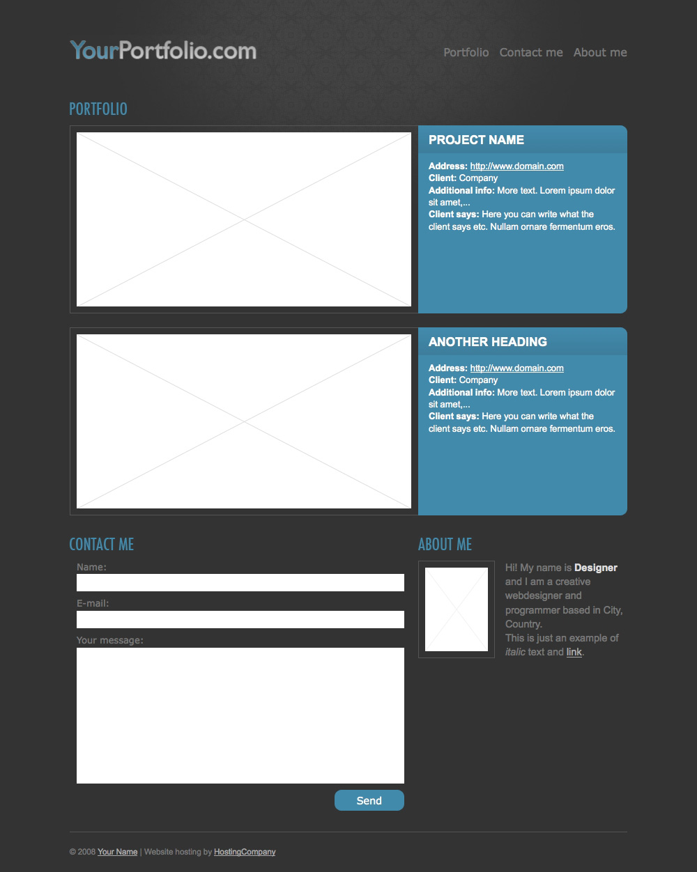 Simple portfolio theme