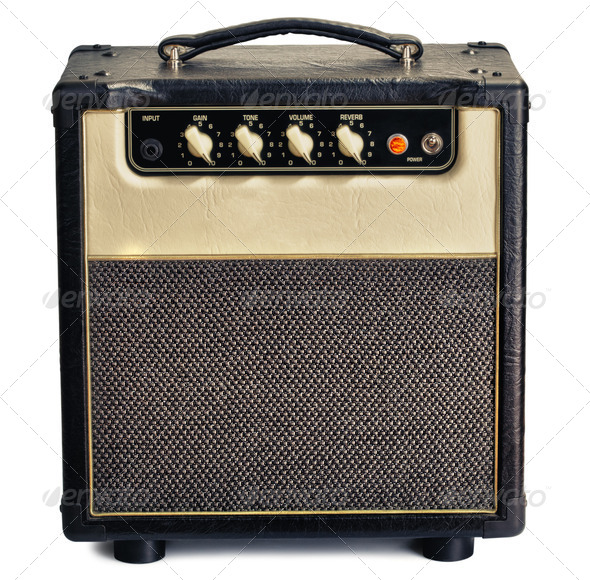 PhotoDune Vintage Guitar Amplifier 3854079