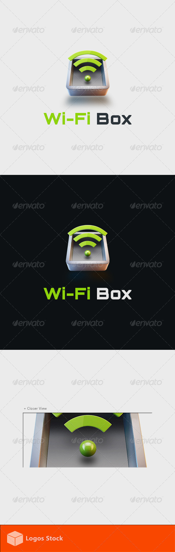 GraphicRiver Technology Logo WiFi Box 3854254