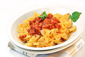 italian pasta - farfalle with meat and tomato sauce - PhotoDune Item for Sale