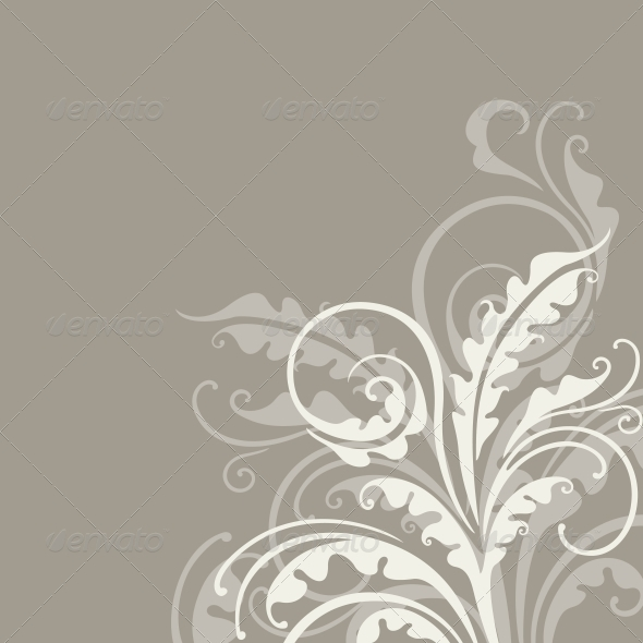 GraphicRiver Decorative Floral Background 3854364