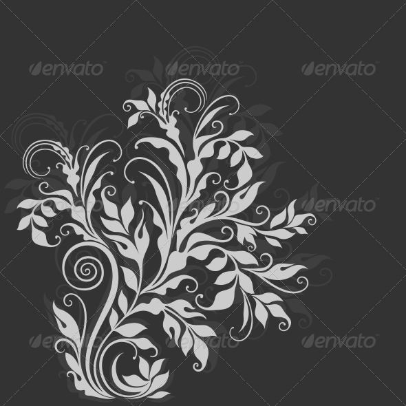 GraphicRiver Elegant Decorative Floral Illustration 3854367