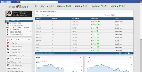 CodeCanyon Viral Facebook Stock Broker Game 3854856