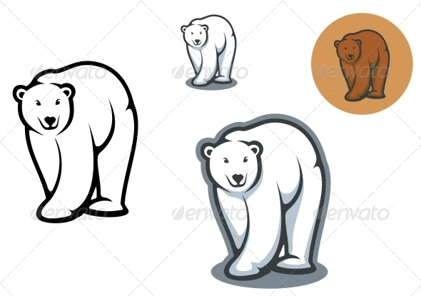 GraphicRiver Bear Mascots 3854864