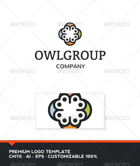 GraphicRiver Owl Group Logo Template 3854963