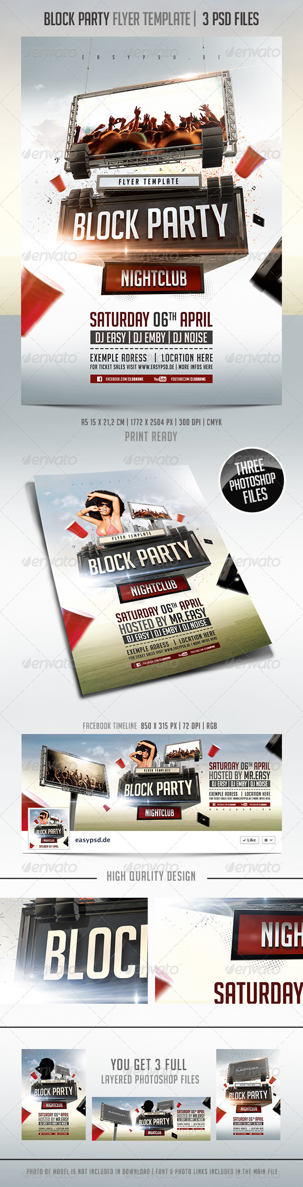 GraphicRiver Block Party Flyer Template 3778191