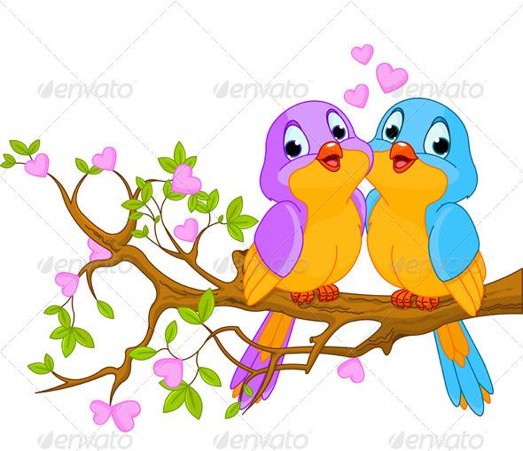 GraphicRiver Birds in Love 3855157