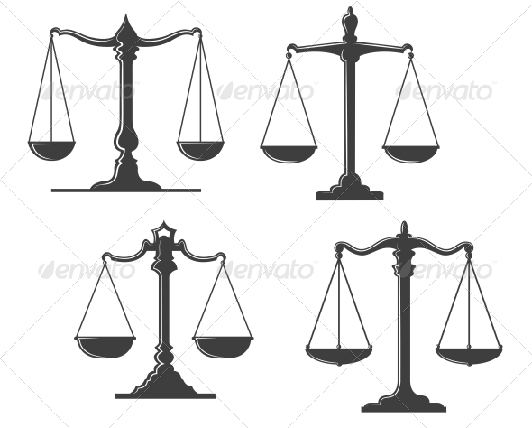 GraphicRiver Vintage Justice Scales 3855186