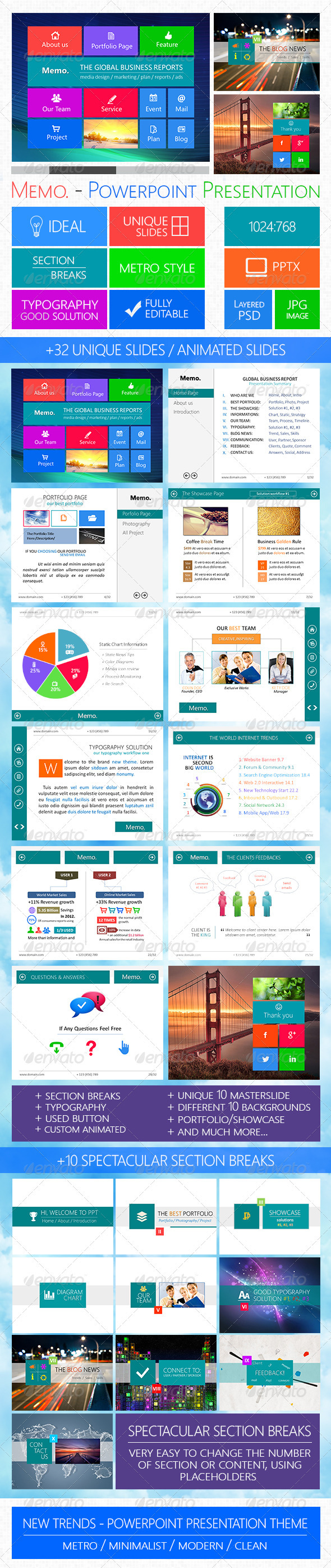 GraphicRiver Memo Powerpoint Presentation Template 3856135
