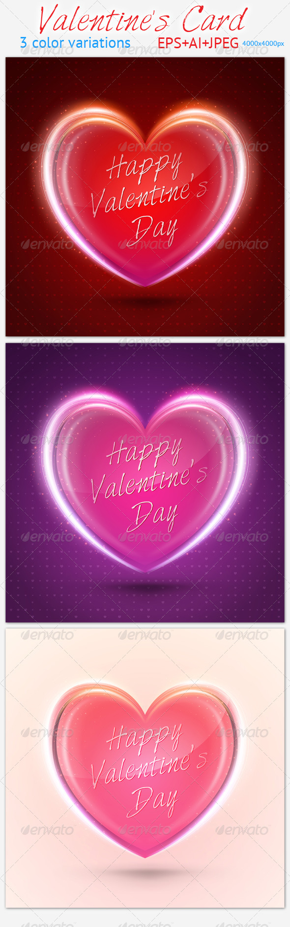 GraphicRiver Valentine s Card 3838076