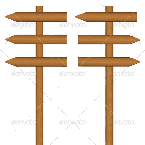 GraphicRiver wooden sign post 3856641