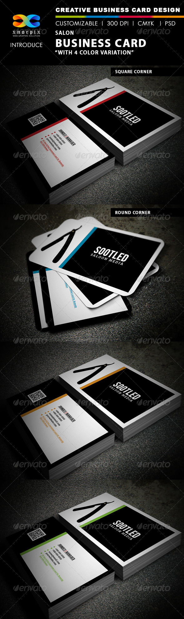 Saloon Business Card - Industry Specific Business Cards