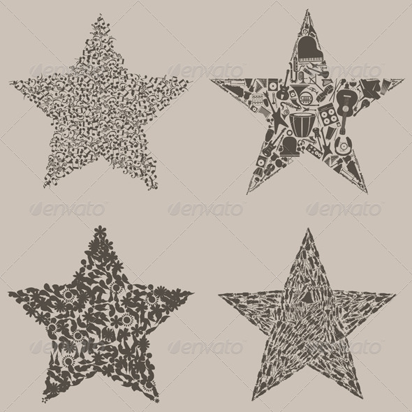 GraphicRiver Set of stars 3856652