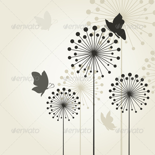 GraphicRiver Three dandelions2 3856679