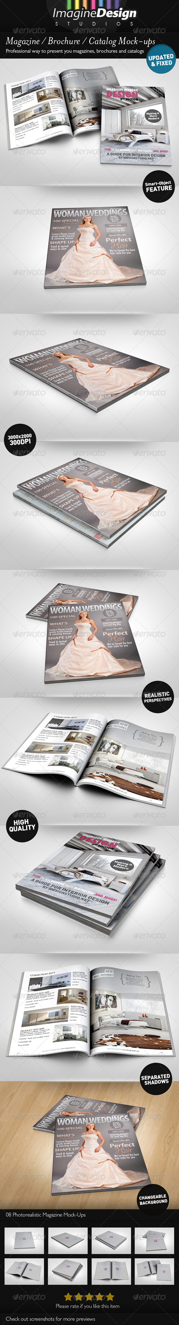 Photorealistic Brochure Magazine Mock-up