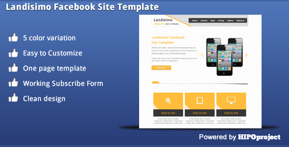 Landisimo Facebook Site Template -