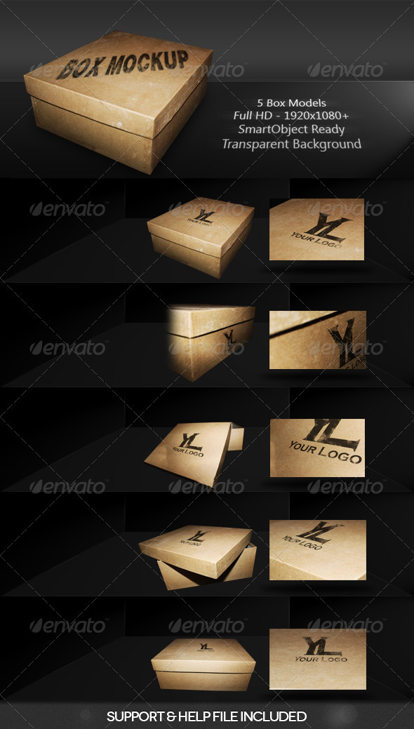GraphicRiver Box Mockup 3755685