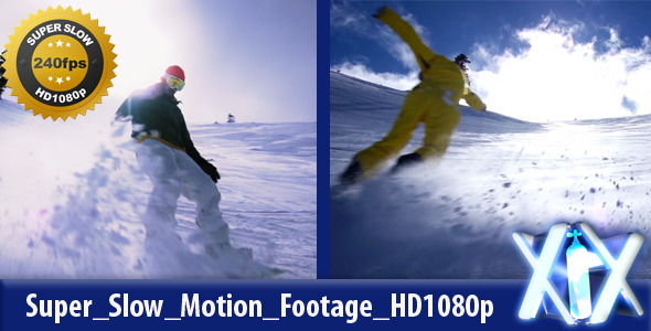 Snowboard Snow Spray 240fps