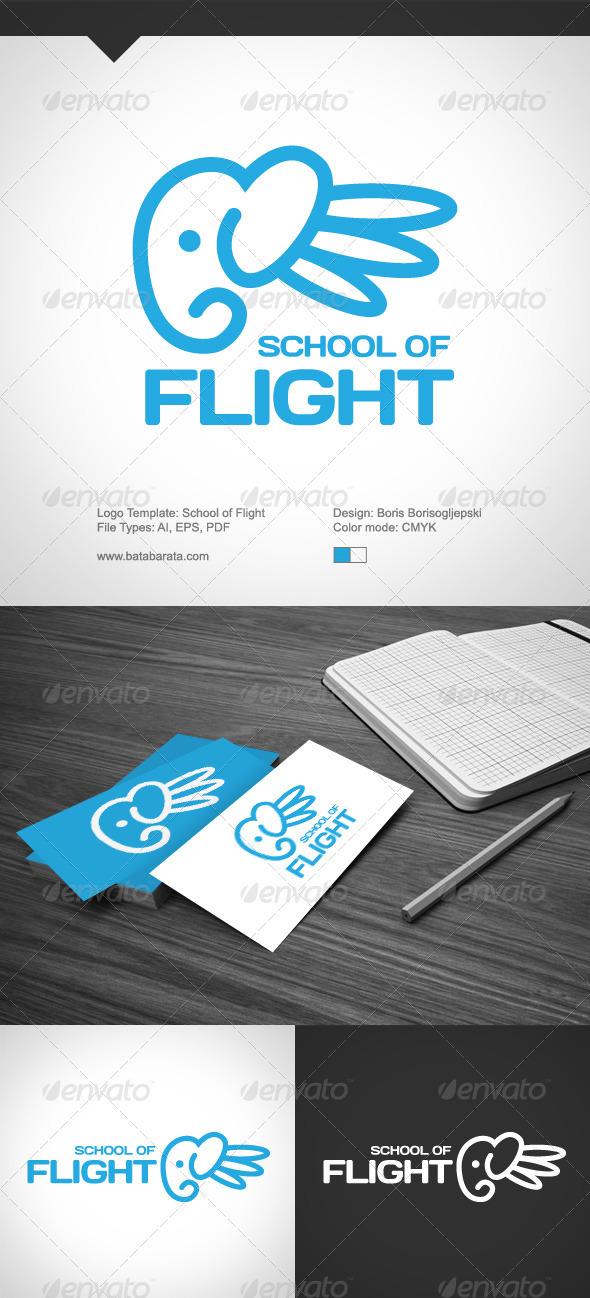 GraphicRiver School Of Flight Logo 3859815