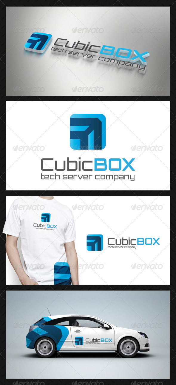 GraphicRiver Cube Box Tech Logo Template 3766028