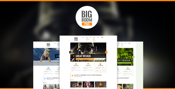 BigBoom - Clean & Powerful PSD Template - Creative PSD Templates