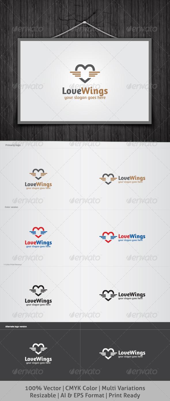 GraphicRiver Love Wings Logo 3860514