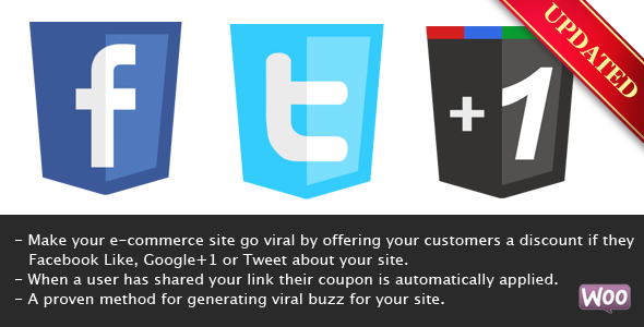 Viral Coupon - Like, Tweet or G+ to get a Discount - CodeCanyon Item for Sale