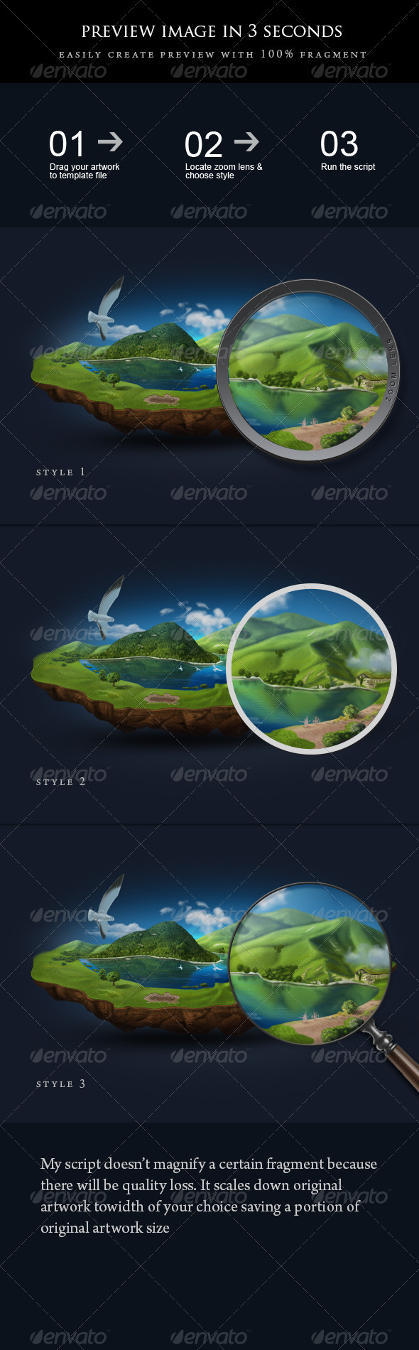 GraphicRiver Automatic Preview Script and Template 3860601