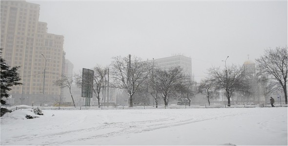 City In The Winter