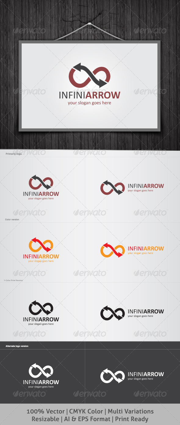 Infini Arrow Logo - Symbols Logo Templates