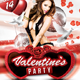 Valentine's Glamour Party Flyer Template - GraphicRiver Item for Sale
