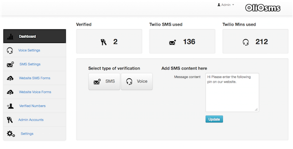 CodeCanyon OlioSMS Voice and SMS verification app 3861878