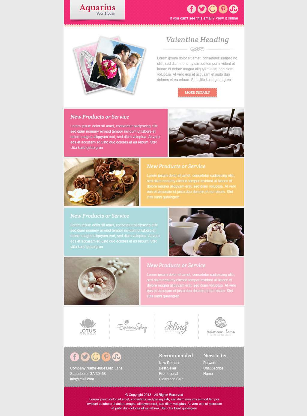 Valentine Email Marketing & Newsletter Template