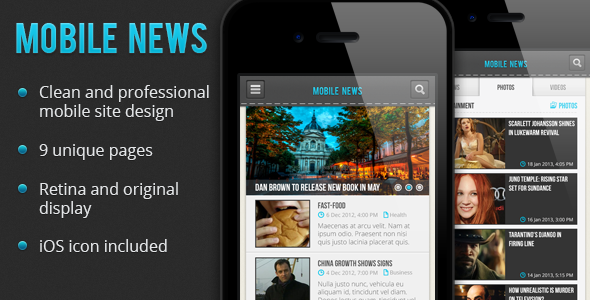 Mobile News PSD - Creative PSD Templates