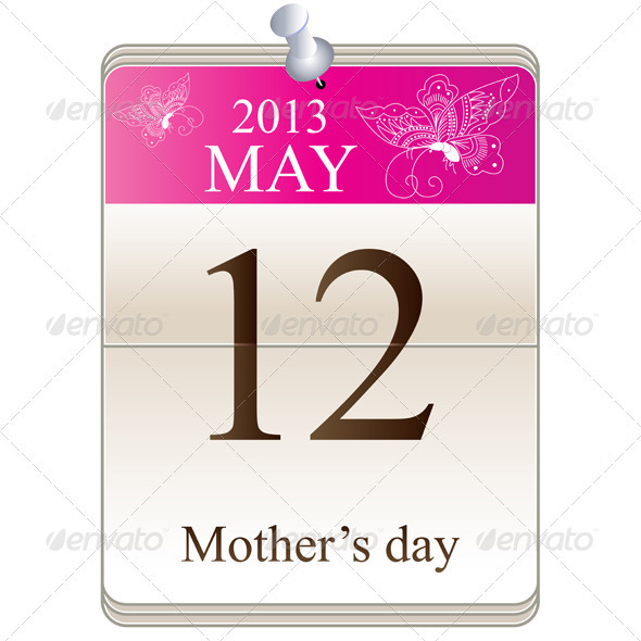 GraphicRiver Calendar of mothers day 2013 3862034