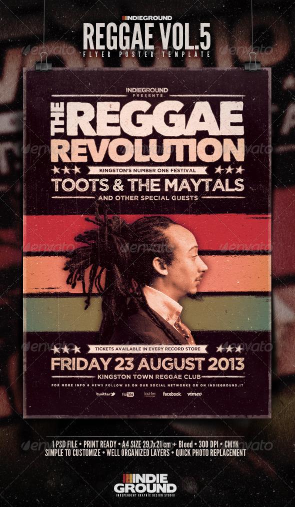 GraphicRiver Reggae Flyer Poster Vol 5 3862314