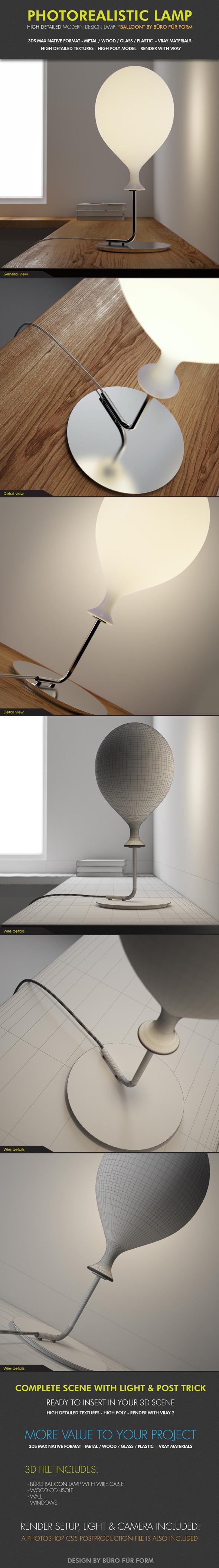 3DOcean Design Lamp Buro Fur Form 3862419