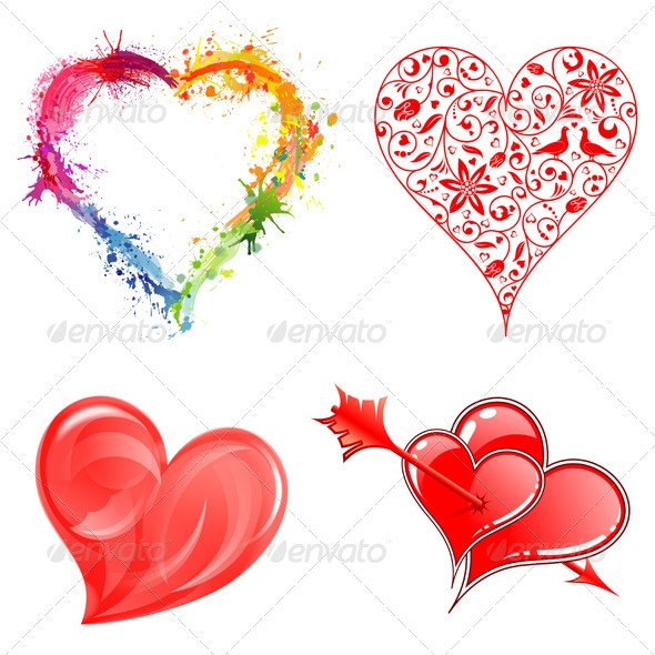 GraphicRiver Collect Valentine s Day Hearts 3862513