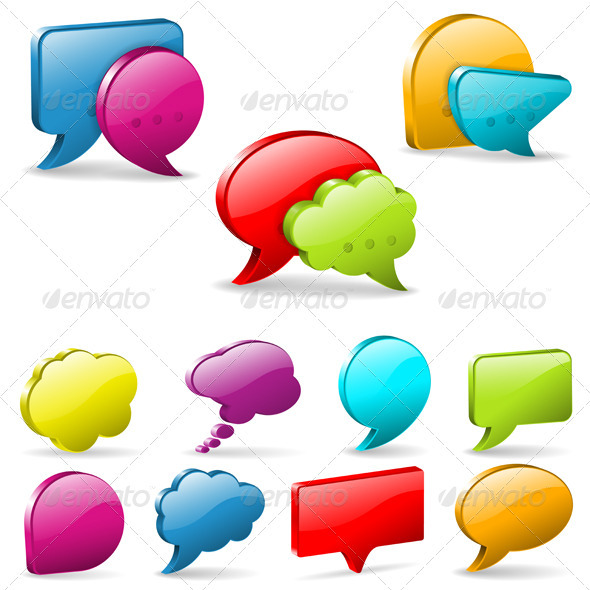 GraphicRiver Speech and Thought Bubbles 3862595