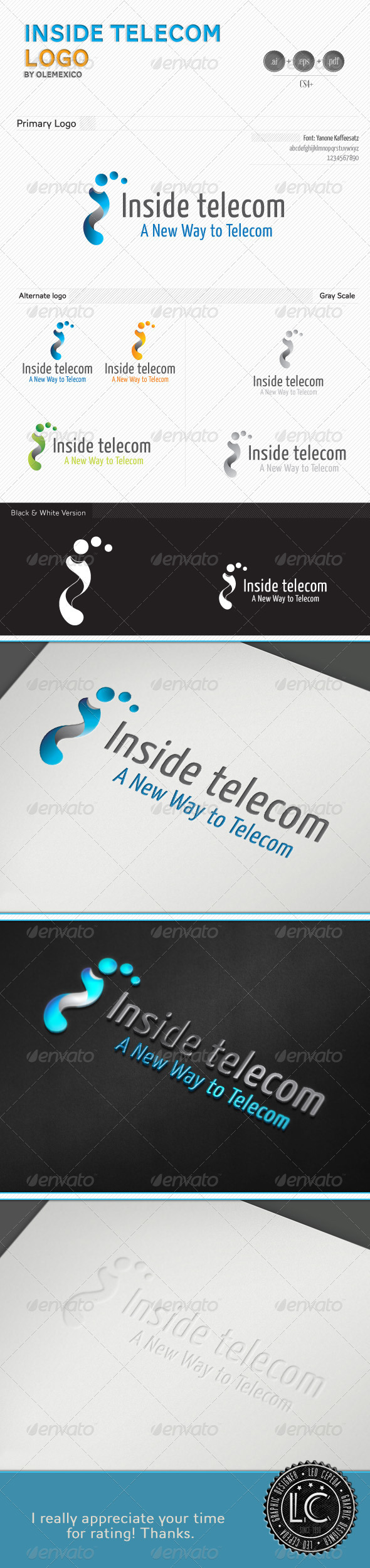 GraphicRiver Inside Telecom Logo 3683259