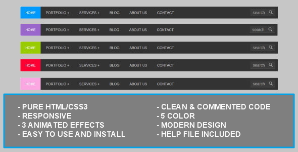 CodeCanyon Pure Css3 Dropdown Menu 3863070