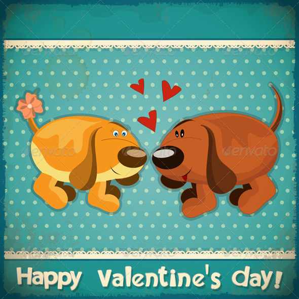 GraphicRiver Valentines Day Vintage Card 3863117