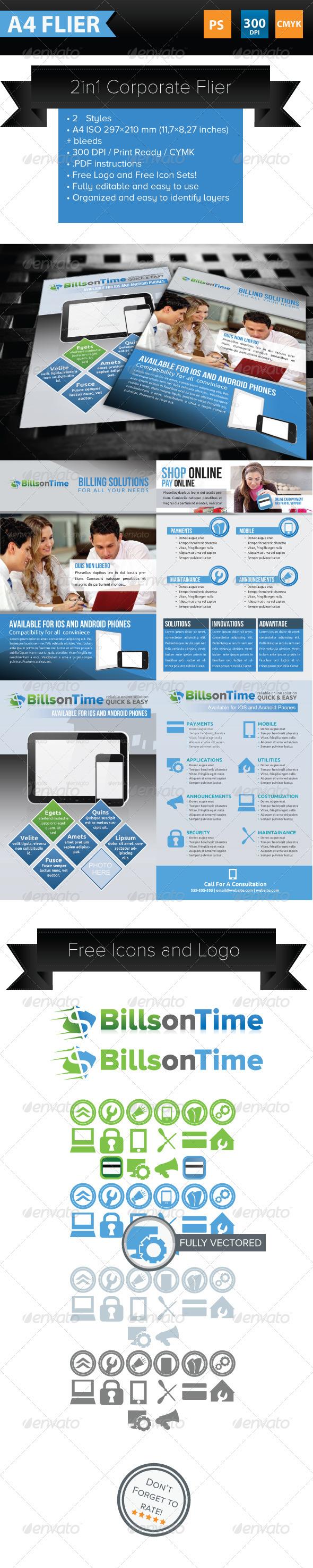 GraphicRiver 2 in 1 Corporate Filer Template 3781880